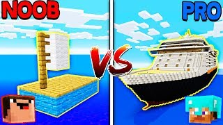 Minecraft NOOB vs. PRO: GIANT BOATS in Minecraft!