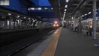 福工大前駅を通過するEH500形牽引の貨物列車