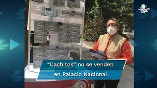 """Teresa Cortés, vendedora de billetes desde hacer  30 años, dijo que en Palacio no se han vendido los """"cachitos"""" como quisiera"""