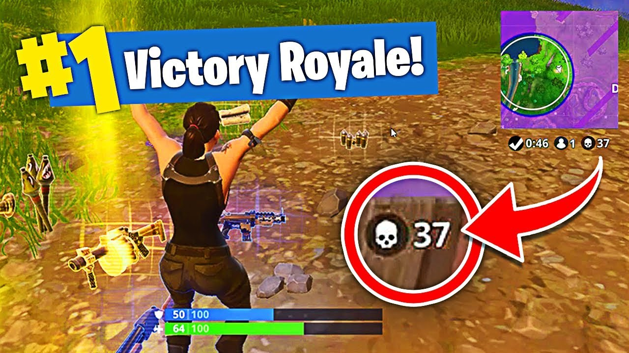 Fortnite New Record 37 Kills Solo Squad Fortnite Season 4 New Recruit Best Kills
