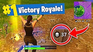 FORTNITE NEW RECORD 37 KILLS SOLO SQUAD! (Fortnite Season 4 New Recruit & Best Kills)