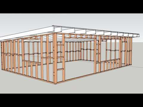 Timber Flat Roof Garage at Home Ideas