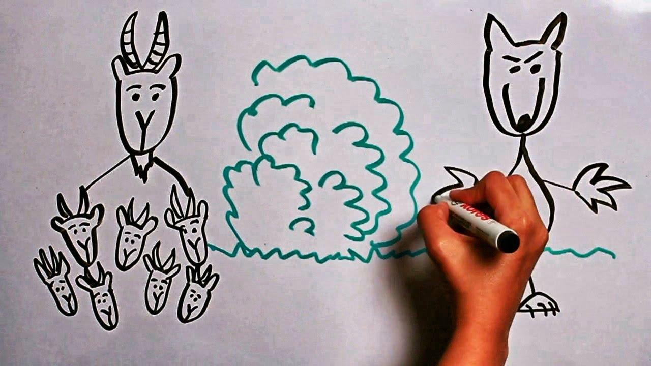 Волк и семеро козлят - сказки - детей - YouTube