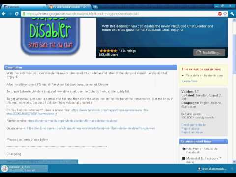 How To Put The Facebook Old Chatbox Back [HD]