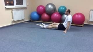 Грыжи диска. Снимаем острые боли. Работа с жгутом. Дополнение. Часть 1(В этом видео я покажу вам дополнительное упражнение к первой части как с помощью обычного медицинского..., 2016-05-30T17:52:16.000Z)