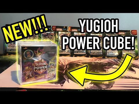NEW! YUGIOH POWER CUBE! - RARE CARDS, BOOSTER PACKS, AND FIGURE?