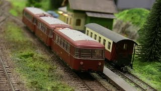 HO Scale Model Trains/Locomotives in Action** Model railroad 2107 from Hobby Fair in Norway