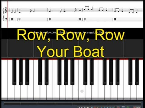 How To Play Row Row Row Your Boat Youtube