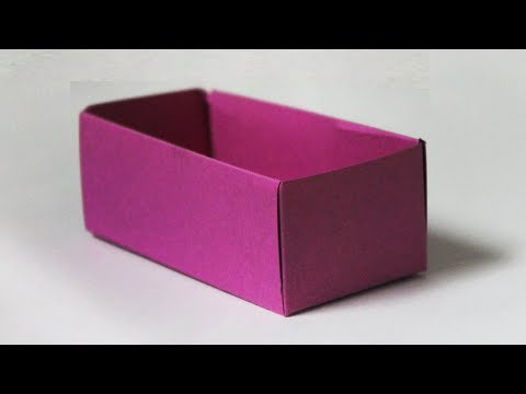 How to make a cardboard box without glue
