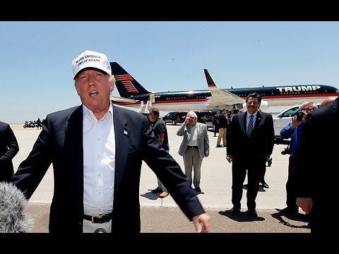 Donald Trump arrives at US-Mexico border