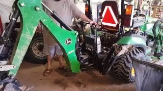 1025r backhoe off rotary cutter on