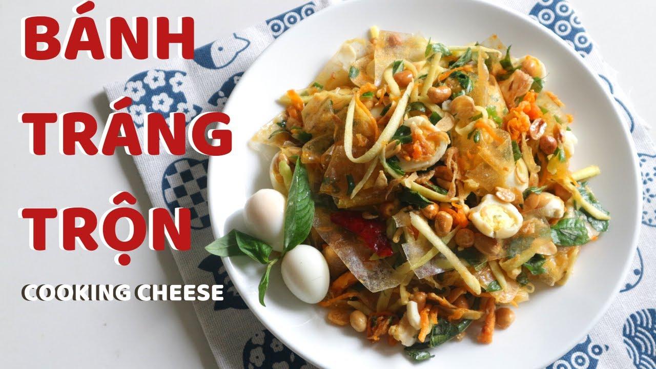 BÁNH TRÁNG TRỘN SỐT ME CHUA NGỌT/ VIETNAMESE STREET FOOD/ COOKING CHEESE