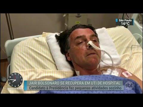 Boletim médico diz que estado de Jair Bolsonaro ainda é grave | SBT Brasil (10/09/18)