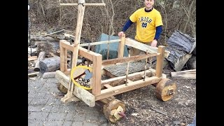 DIY How To Build A Giant Wooden Wagon (Fred Flintstone)