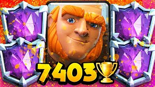 7,403 Trophies! #1 GIANT PLAYER in the WORLD's NEW DECK!