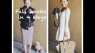 Easy Fall Lookbook Styling in 4 ways|SoFashionBasic Thumbnail