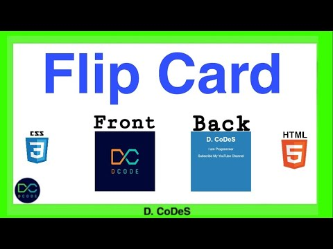 Flip Card with Html and CSS || Flip Card || D. CoDeS || #code #coding #codes #css #html