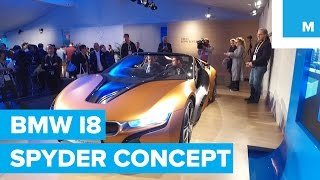 first look at bmw i8 spyder self driving concept car   mashable ces 2016