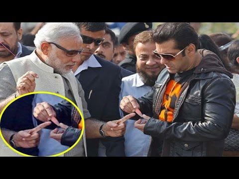 जब PM Modi की अंगुली कटी तो Salman Khan ने खुद लगाया Bandage  तस्वीर हो गयी Viral