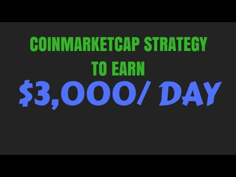 How To Use Coinmarketcap Strategy To Earn $3,000+/Day On Coin Trading Markets Like Binance, Kucoin..