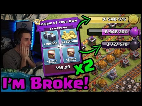 SPENT $200 on my Town Hall 11!! INSANE Amount of LOOT!!