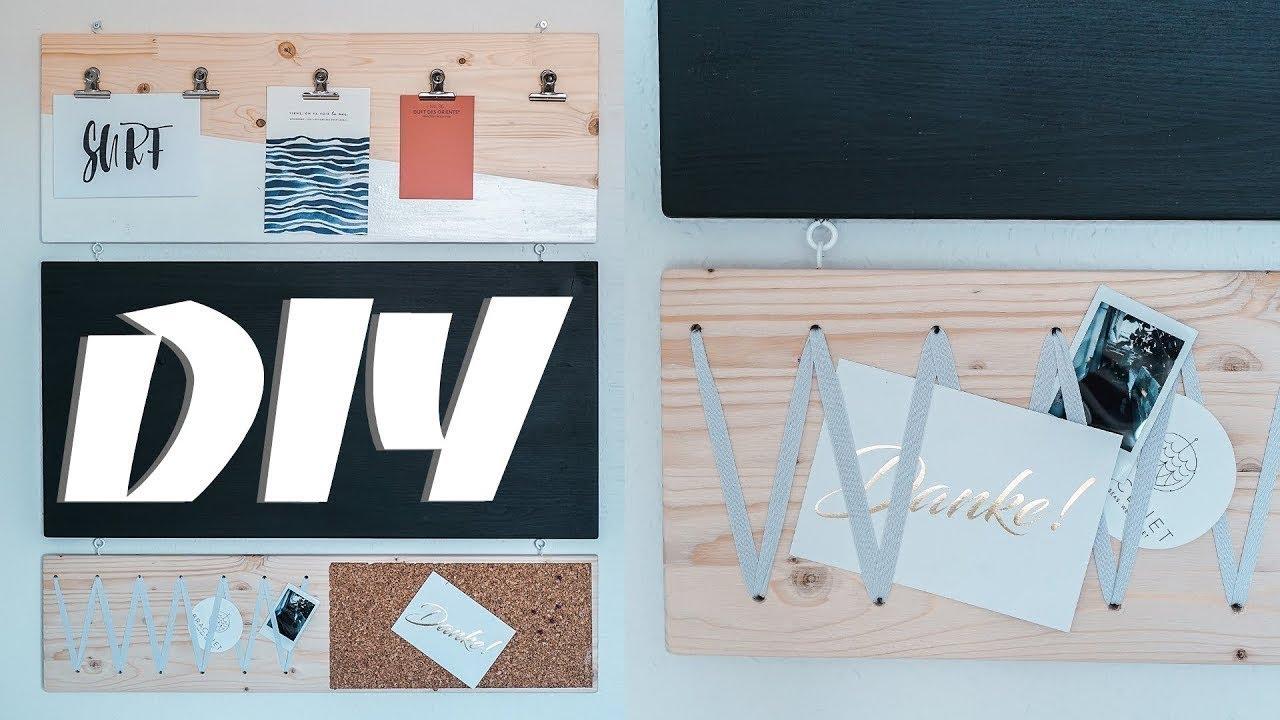 Pinnwand selber bauen diy wandboard aus holz f r mehr organisation easy alex youtube - Pinnwand selber bauen ...