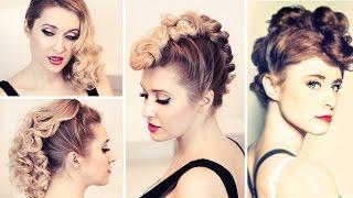 Причёски в стиле рок/панк c локонами ★ Ирокез в стиле Kiesza на средние/длинные волосы