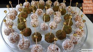 Hem Şık Hem Lezzetli Elmalı Havuçlu Bisküvi Topları - Hülya Ketenci -Pasta Tarifleri
