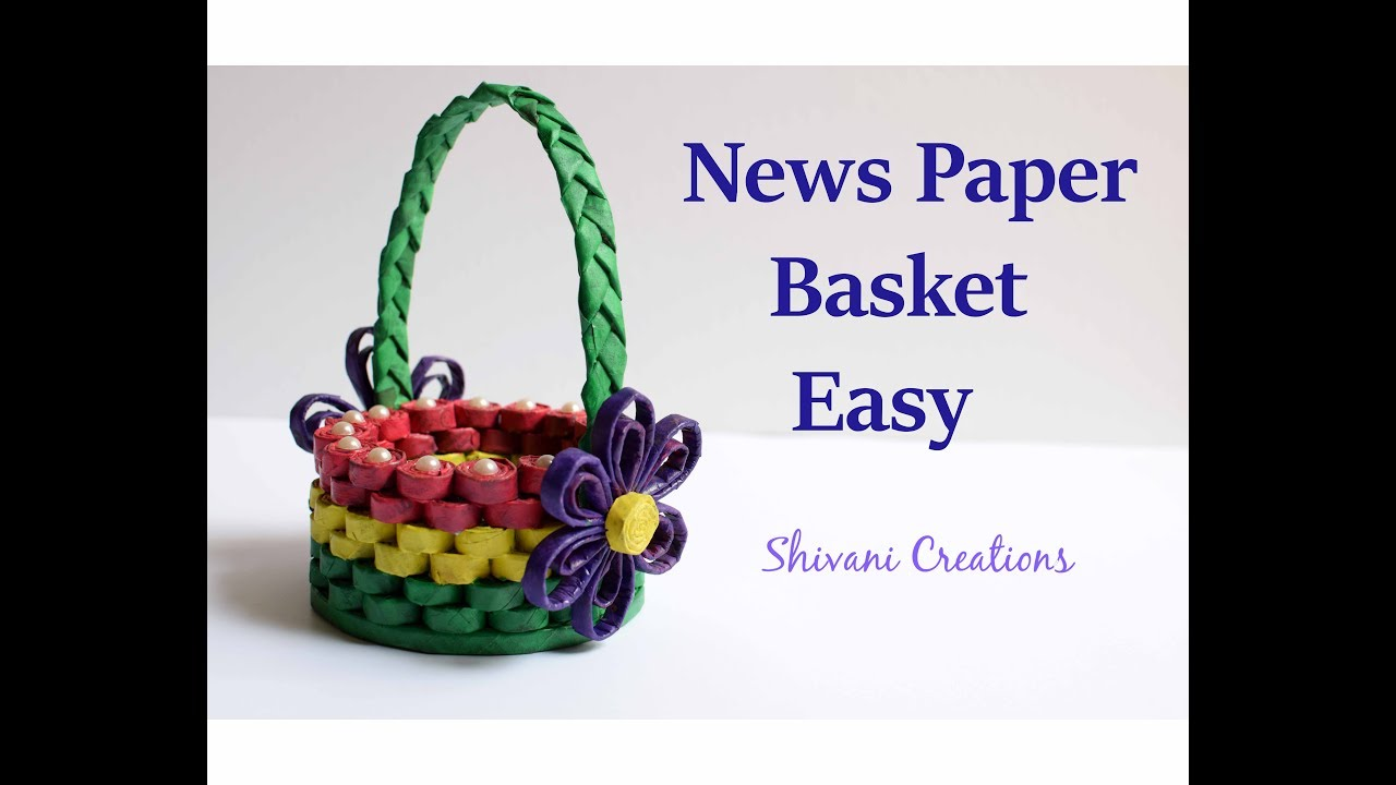 How To Make A Newspaper Basket With Top : How to make news paper basket best out of waste easy