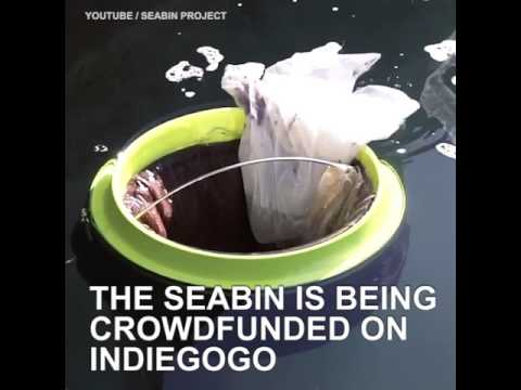 The Seabin is a floating trash bin that filters trash out of the ocean