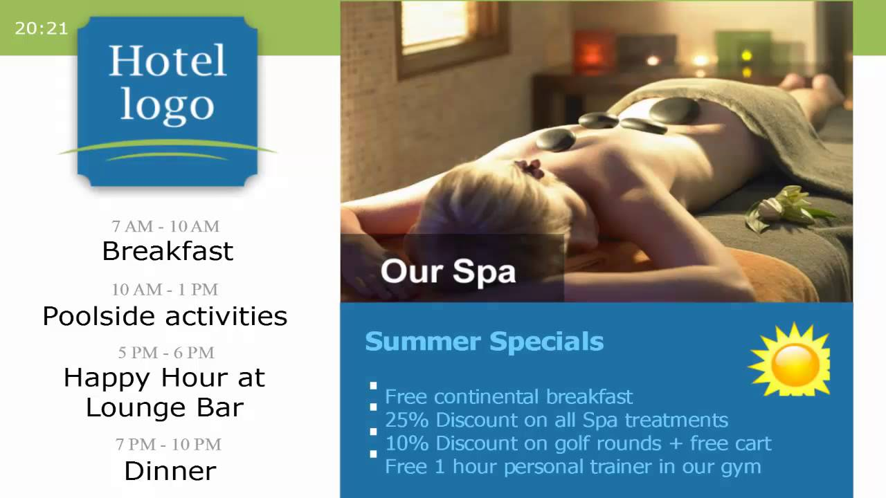Digital Signage Templates | Digital Signage Templates For Hotels Youtube