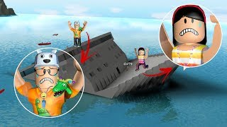 ROBLOX: MY MOTHER AND I IN THE CHALLENGE: THE LAST ONE TO LEAVE THE SHIP WINS!! -Play Old man
