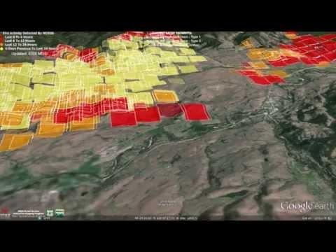 Fly Through of Carlton Complex Fire Data 7-18-2014