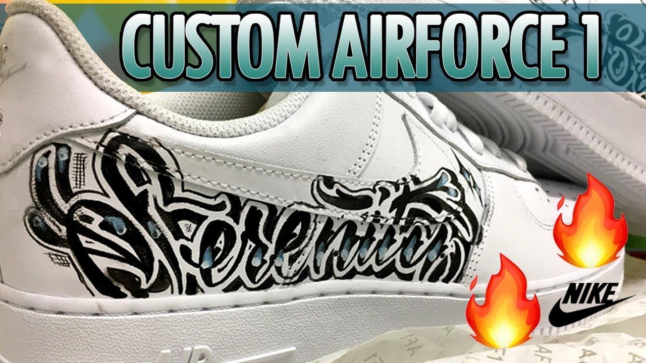 4610cc21cf CUSTOM GRAFFITI NIKE AIR FORCE 1 - YouTube