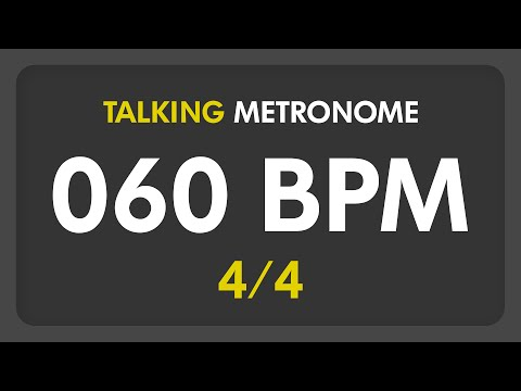 60 BPM - Talking Metronome (4/4)