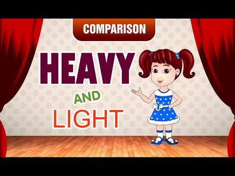 Heavy and Light | Comparison for Kids | Learn Pre-School Concepts with Siya | Part 2