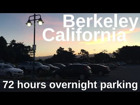 Living in a Car: Free 72 hour overnight parking (Berkeley Marina, California/San Francisco Bay Area)