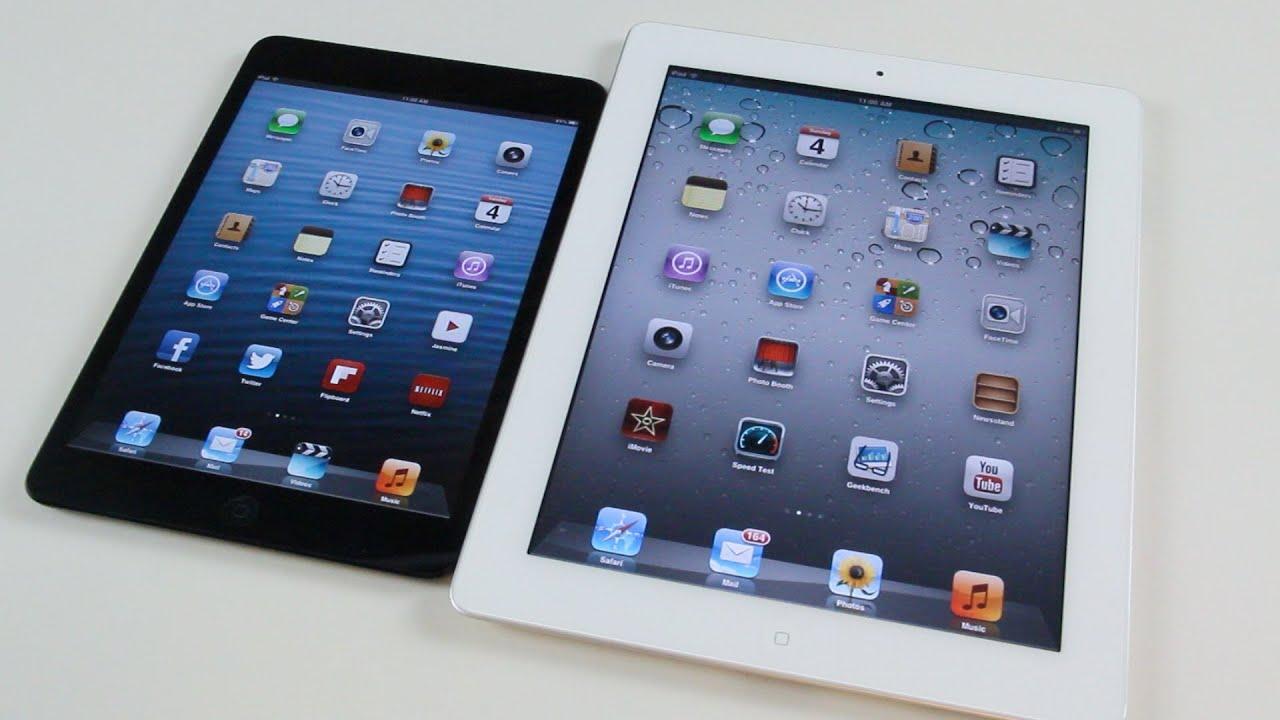 Ipad Mini Compared to Ipad 2 Ipad Mini vs Ipad 2