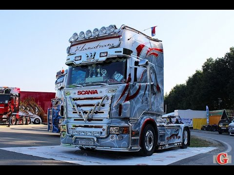 Scania r730 V8 Sound Tuning - Truck Show 2016- misano scania video - YouTube