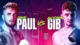 JAKE PAUL VS GIB OFFICIAL ANNOUNCEMENT