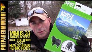 Minus33 Baselayers-KÜHL Kollusion Jacket - Schrade XL Ferro Rods - Preparedmind101