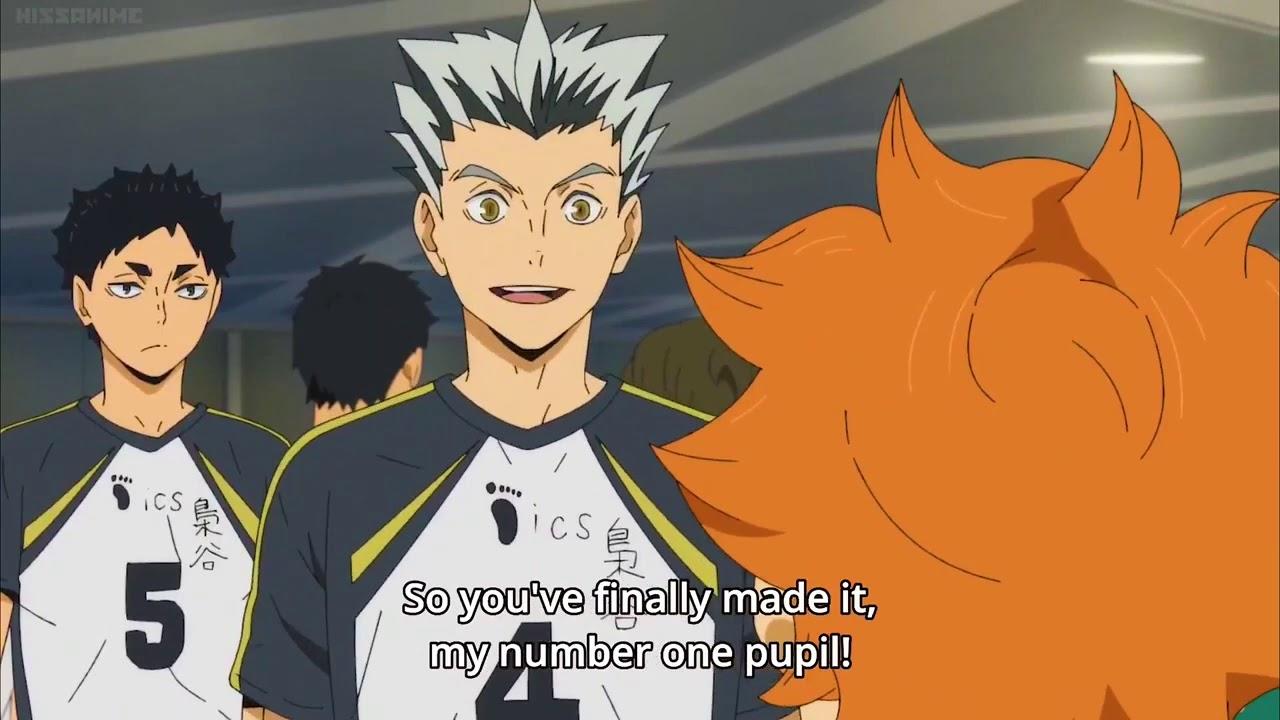 the way hinata and bokuto support each other haikyuu cute moments