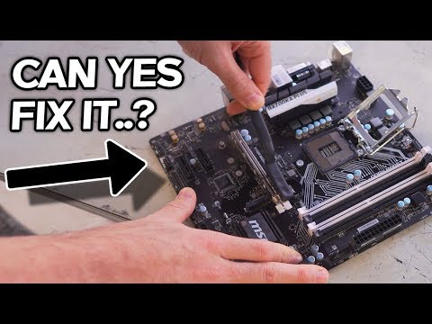 Can YES Fix it...?! B150 with 10 Bent Pins... A GTX 980 Ti That Doesn't POST?!
