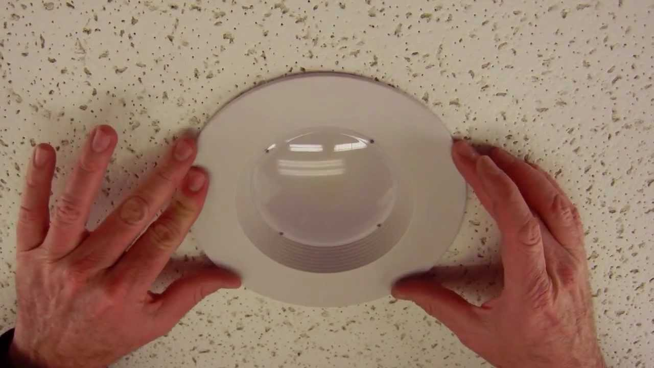 How to adjust our led retrofit recessed trim from 6 to 5 by total youtube premium aloadofball Image collections