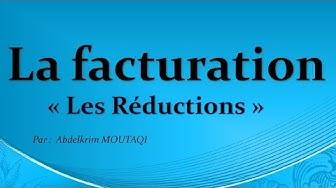 la facturation: les réductions