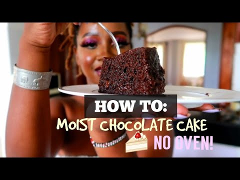 HOW TO BAKE A MOIST CHOCOLATE CAKE WITHOUT AN OVEN | SPRINKLEOFSASS
