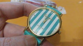 распаковка часы женские женева полосатые алиэкспресс плюс подарок(AndrsBestVideo представляет: https://www.youtube.com/watch?v=SQnGb76L-MQ Received my orders 3 watches Geneva Platinum , unfortunately, there is a ..., 2014-10-13T19:47:17.000Z)