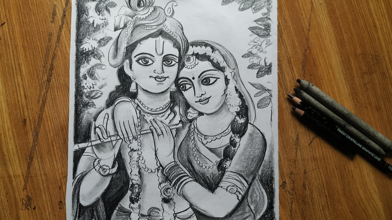 Dol Yatra Special Radha Krishna Drawing How To Draw Lord Radha Krishna Easy Face Drawing Youtube