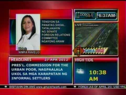 DB: Tensyon sa Panatag Shoal, tatalakayin ng Senate Foreign Relations Committee ngayon (042712)
