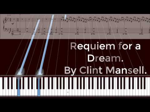 Requiem for a Dream on piano with sheet music